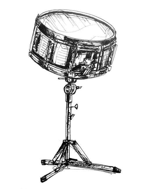 500x652 kh daily drawing daily drawing week drums snare drum