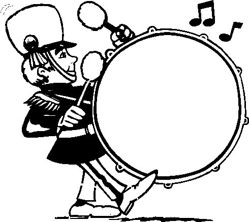 Drum Line Drawing