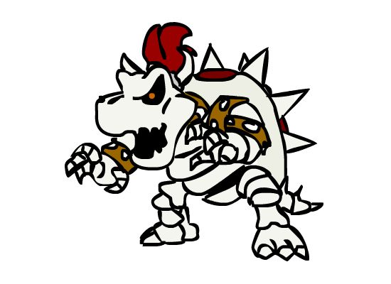 Dry Bowser Drawing | Free download on ClipArtMag