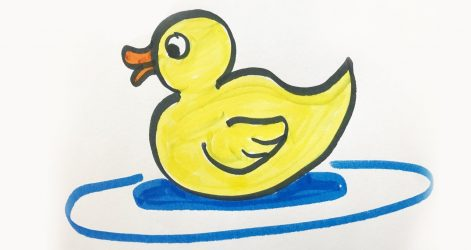 Duck Drawing Easy