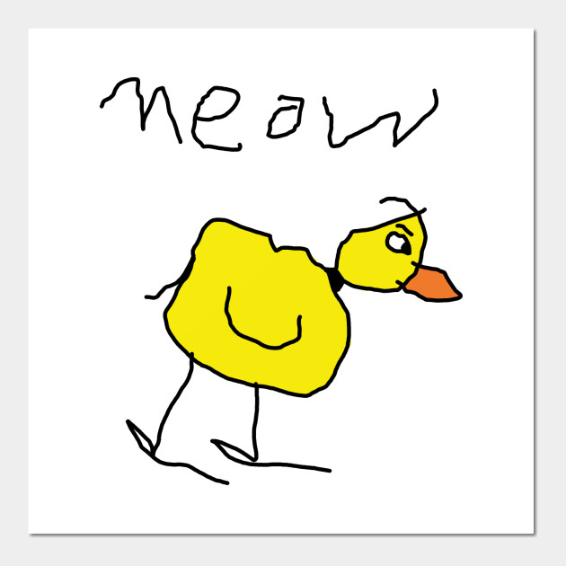 630x630 Meow The Duck, Kid Hand Drawing