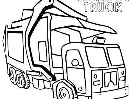 440x330 garbage truck coloring pages garbage truck coloring pages truck
