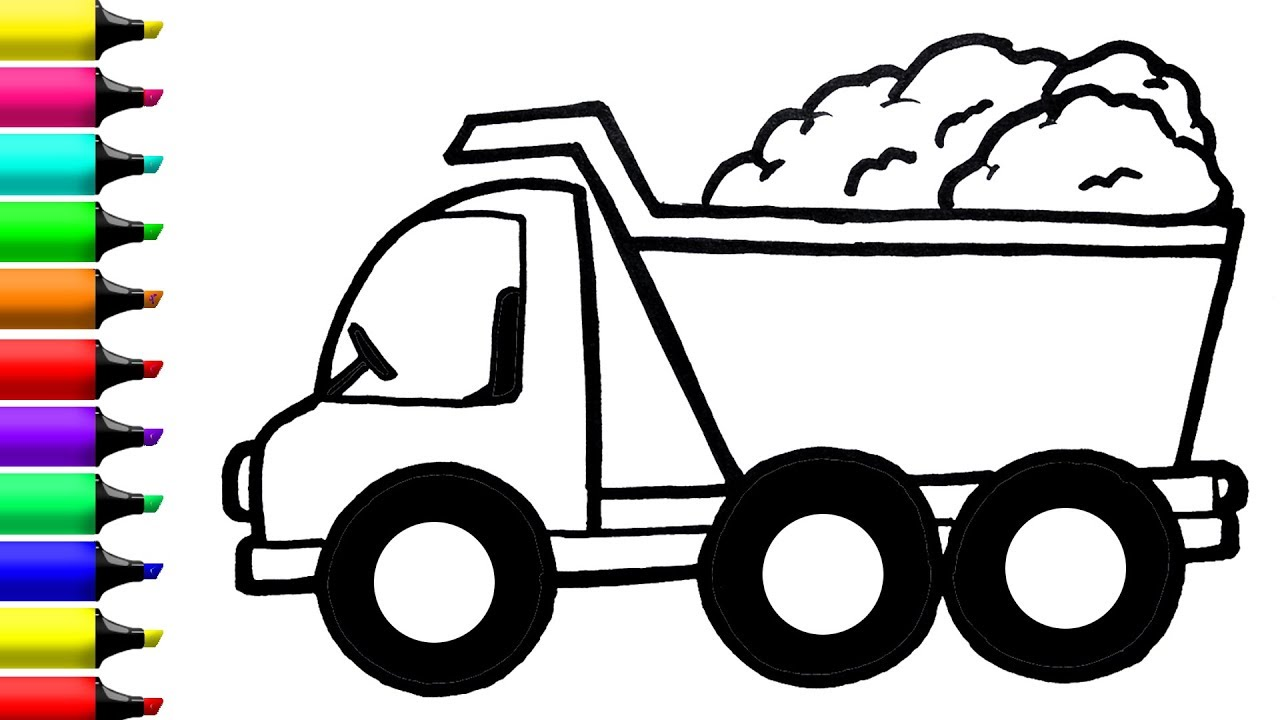 Dump Truck Drawing | Free download on ClipArtMag