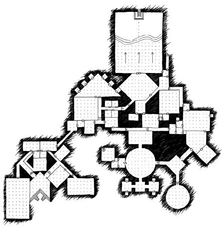 450x459 quickly, quietly, carefully another one hour dungeon map