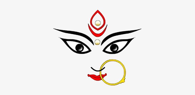 820x402 Durga Maa Face Drawing