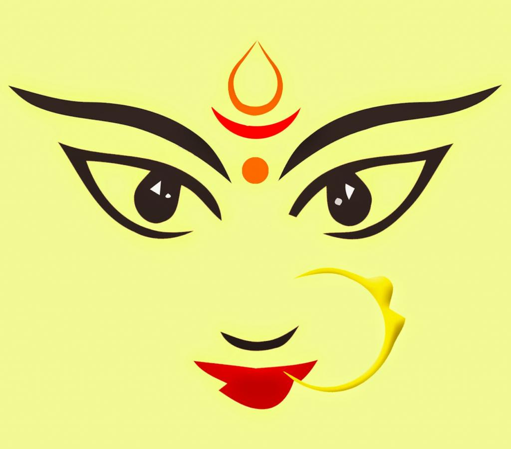 1024x899 easy durga face drawing easy durga face drawing face sketch