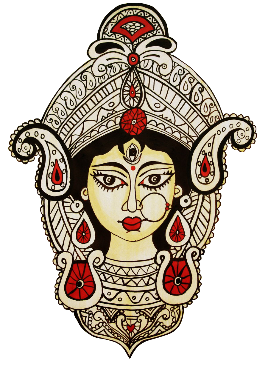 900x1226 Goddess Durga Mishtu Durga Goddess, Hindu Tattoos, Durga