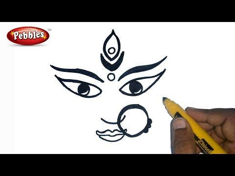 480x360 How To Draw Durga Maa Durga Puja Drawing For Kids Navrat