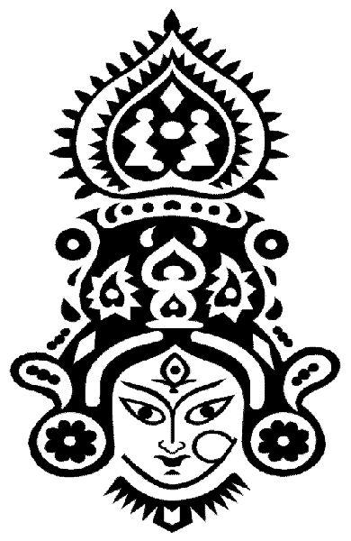 390x600 Durga Drawing