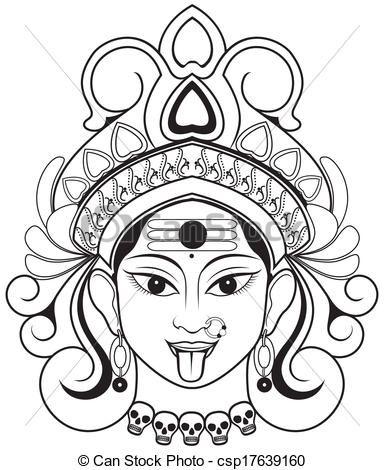 384x470 Durga Drawings