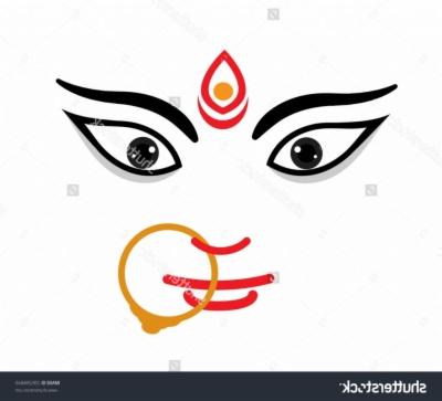 400x363 Durga Face Png