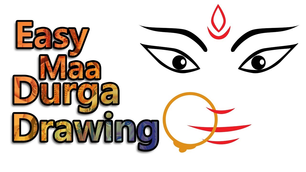 1280x720 How To Draw Easy Maa Durga Drawing Navratri And Dussehra Special