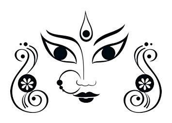 355x255 Buy Vsquare Studio Vinyl Maa Durga Face Wall Sticker