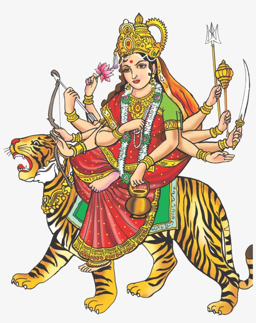 820x1033 Durga Drawing Navadurga