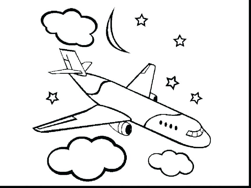863x647 plane coloring pages flying plane coloring
