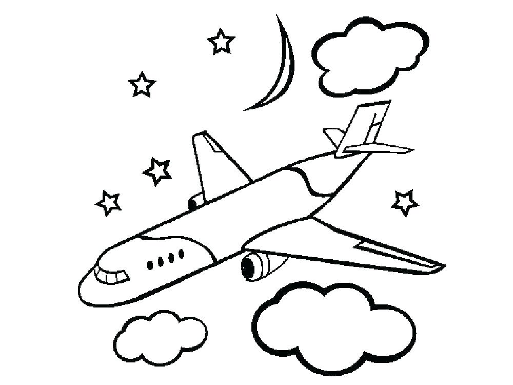 1000x750 Coloring Pages Of Airplanes