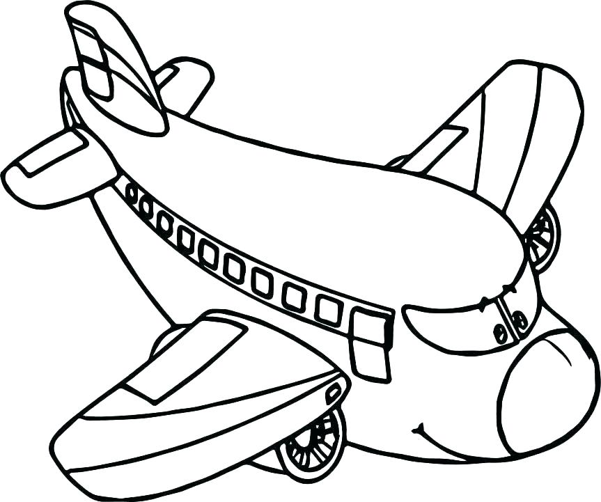 863x721 Airplane Coloring