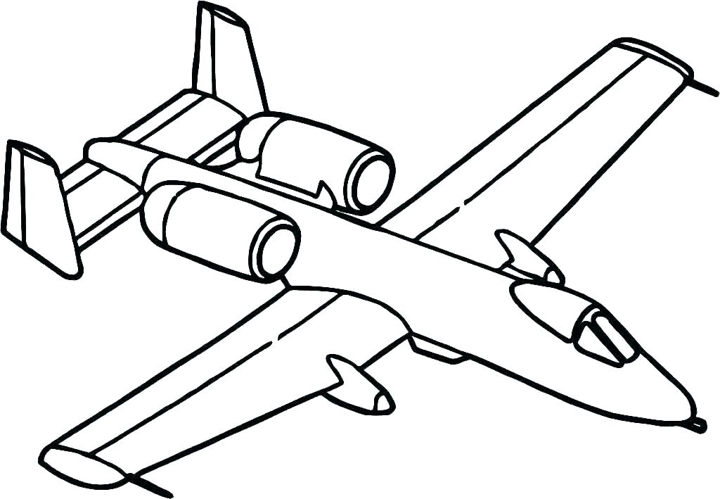 1024x709 Airplane Colouring Pages Free Printable Aeroplane Coloring Plane