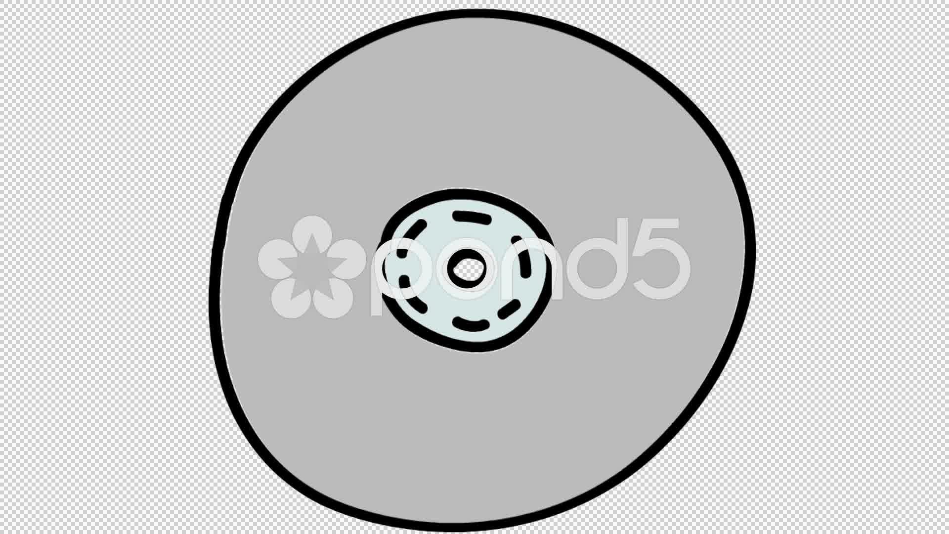 1920x1080 Computer Cd Dvd Line Drawing Illustration Animation
