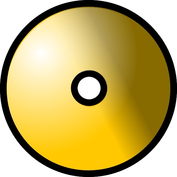 600x600 Gold Theme Cd Dvd Clip Art Free Vector In Open Office Drawing