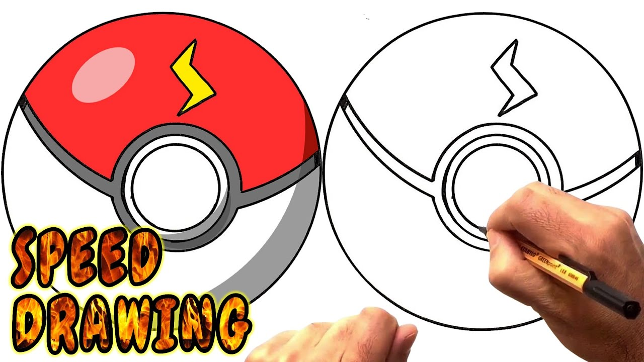 1280x720 How To Draw A Pokeball From Pokemon Go
