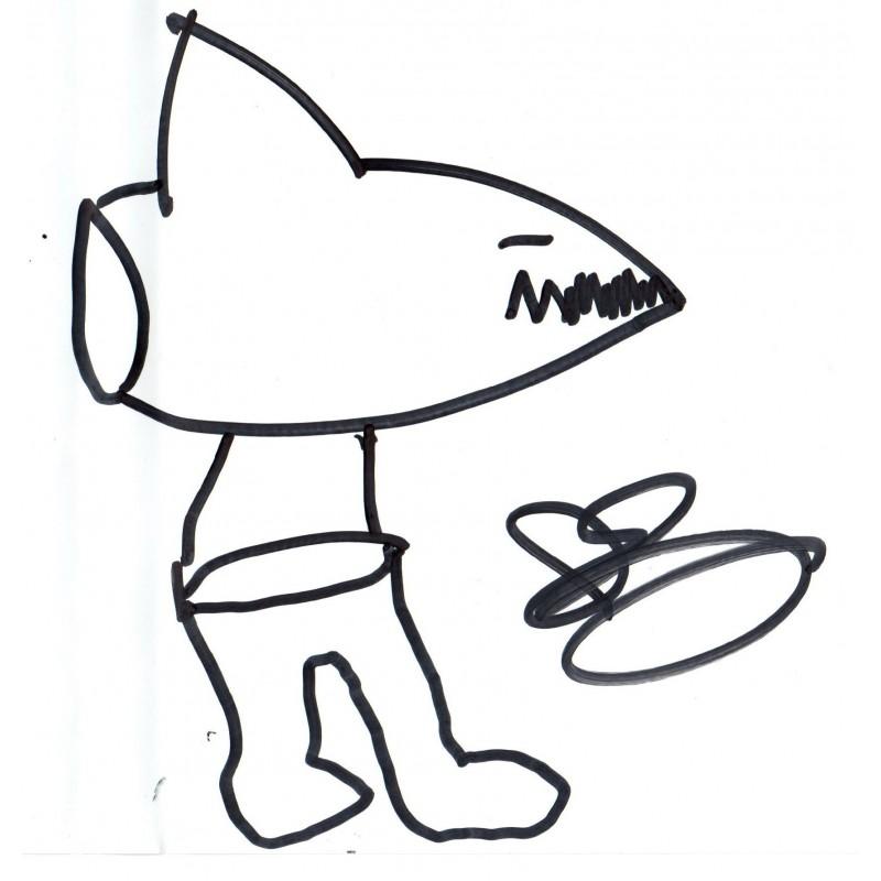 800x800 Sharknado Dvd Signed Extra Ian Ziering Shark Drawing Plus