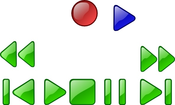 594x356 Vcr Dvd Player Buttons Clip Art Free Vector In Open Office Drawing