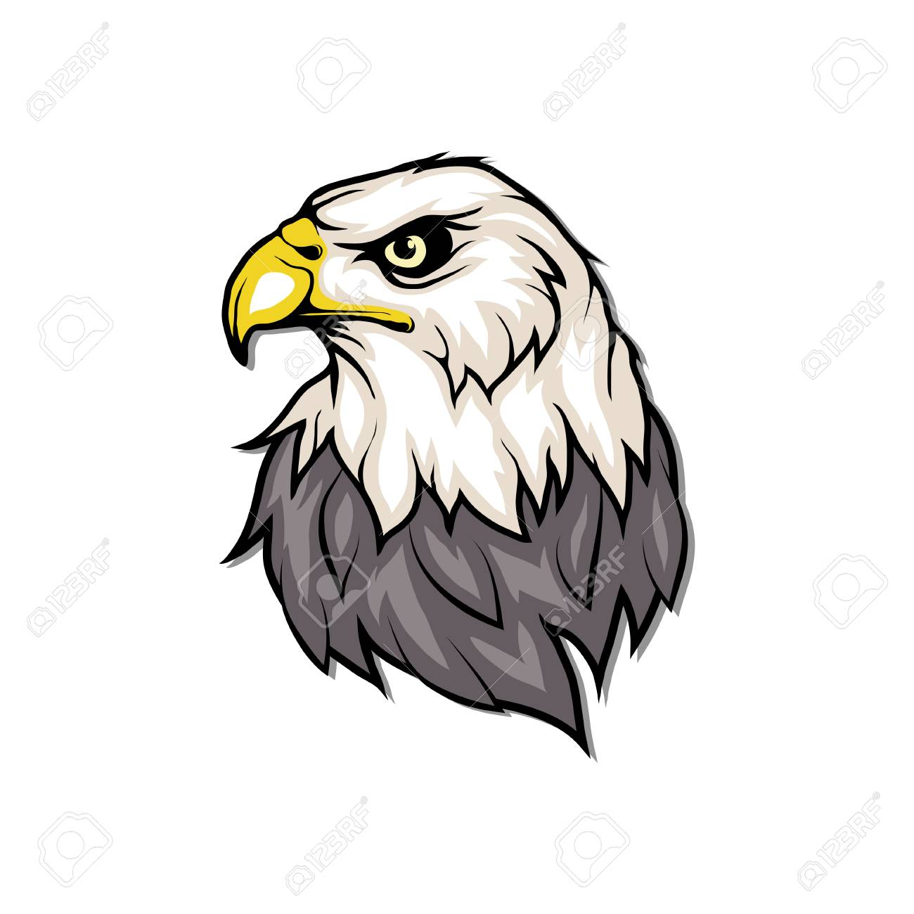 1300x1300 bald eagle drawing cartoon color free line designs sketches