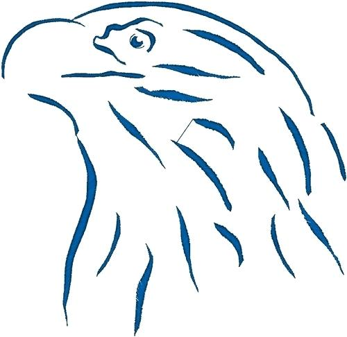 500x486 birds embroidery design bald eagle outline from heavenly designs