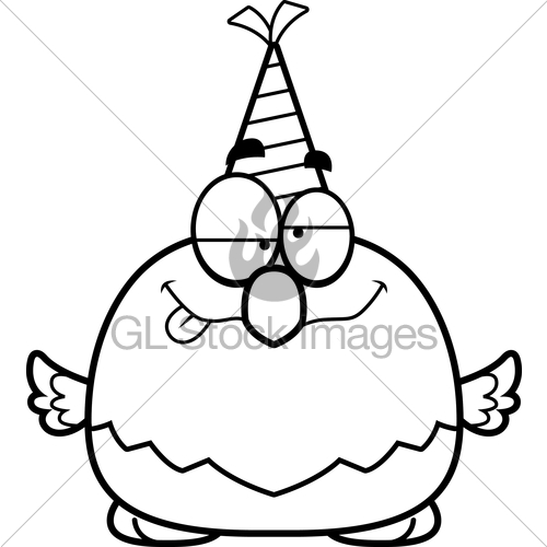 500x500 Cartoon Bald Eagle Drunk Party Gl Stock Images