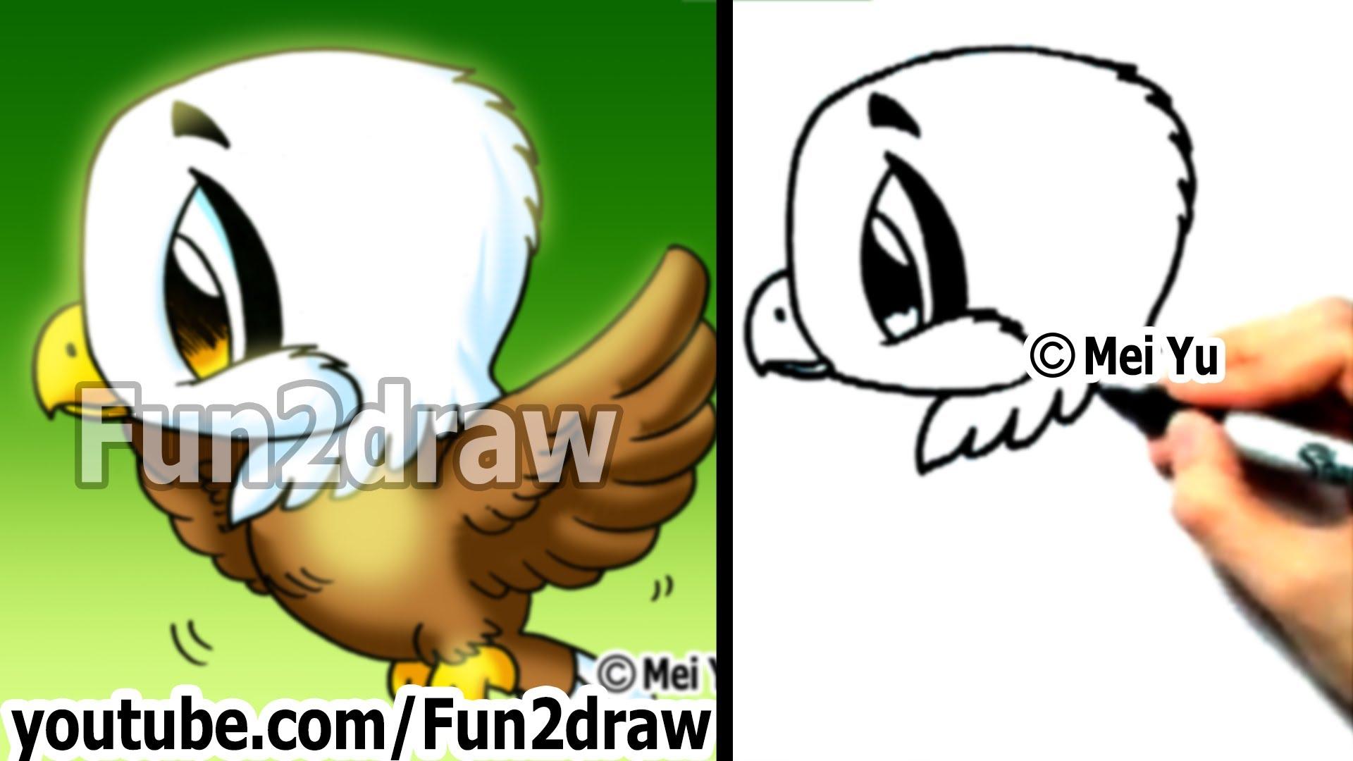 1920x1080 Hawk Drawing Cartoon How To Draw A Cute Chibi Eagle In Min