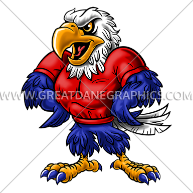 385x385 Mascot Drawing Eagle, Picture