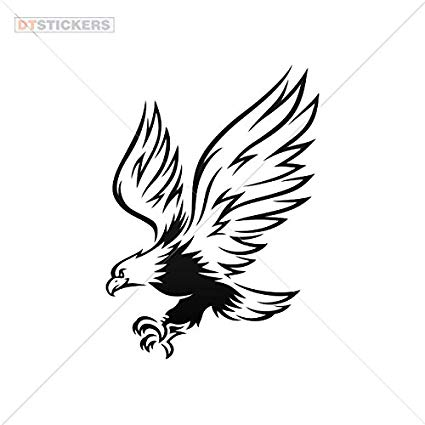 425x425 Vinyl Stickers Decal Eagle Hunting For Helmet