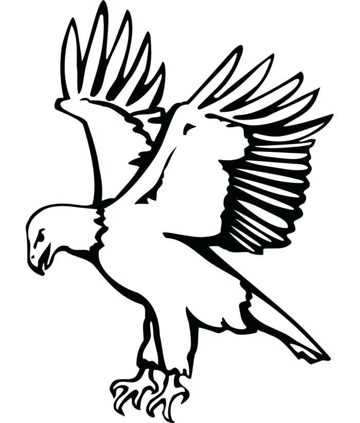 700x824 Eagle Template Printable Bird Stencil Feather Mask