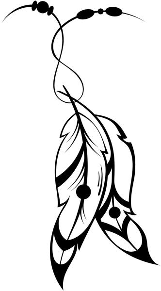 332x600 Huge Collection Of 'indian Feathers Drawing' Download More Than