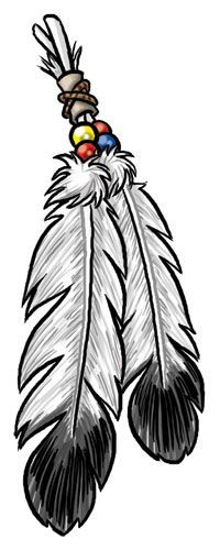 200x500 Native Eagle Feather Tattoo Designs