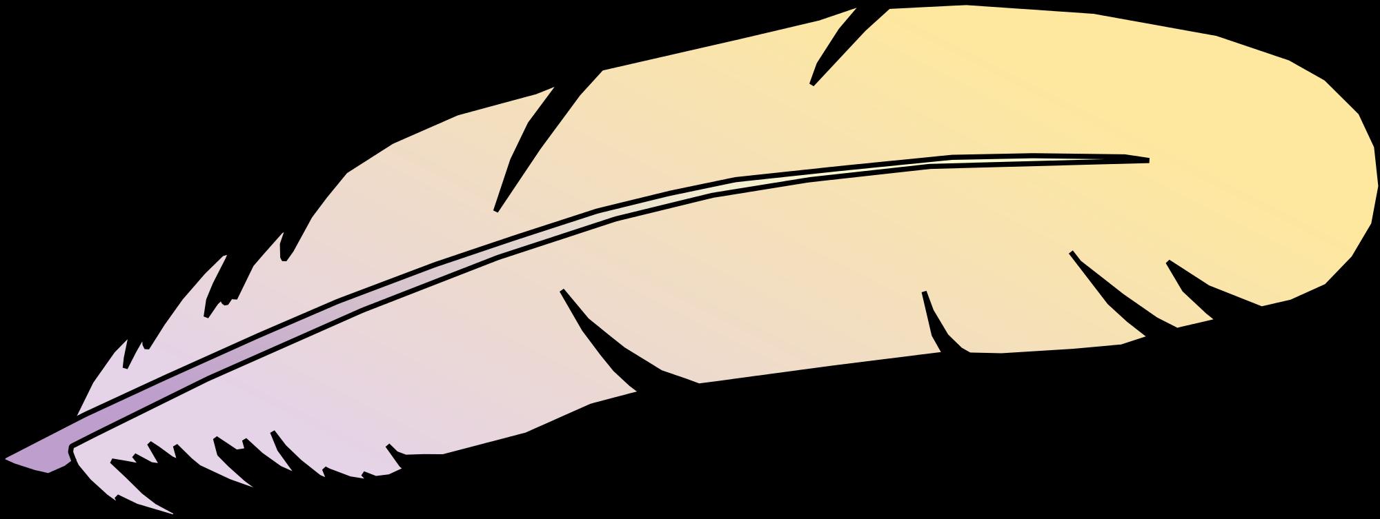 2000x753 Clip Art Eagle Feather