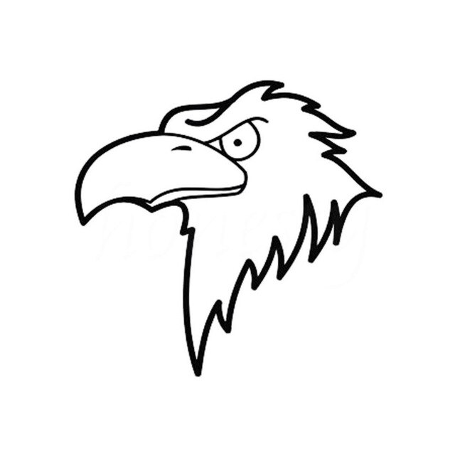 640x640 cartoon mighty eagle head car stickers automotive wall home glass