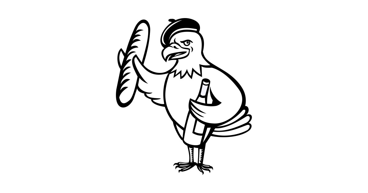 1200x630 american eagle beret baguette wine cartoon
