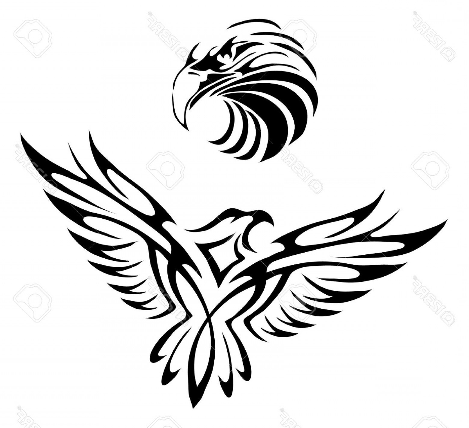 1560x1425 Black And White American Eagle Tattoo Shopatcloth