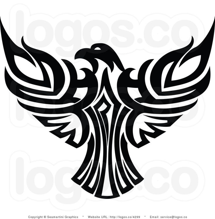 736x750 Amazing Tribal Eagle Tattoos Designs With Meanings