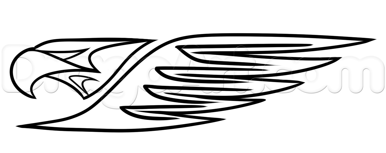 1328x526 How To Draw The West Coast Eagles, Step