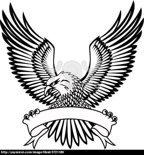 492x530 Black Eagle Logo With White Lines Diy Stuff Eagle Vector