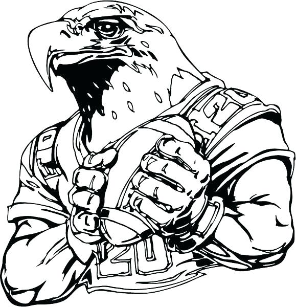 579x600 Coloring Approved Eagle Pages Eagles Logo