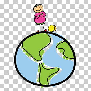 310x310 Globe Drawing Cartoon Sketch, Cartoon Man On Earth Png Clipart
