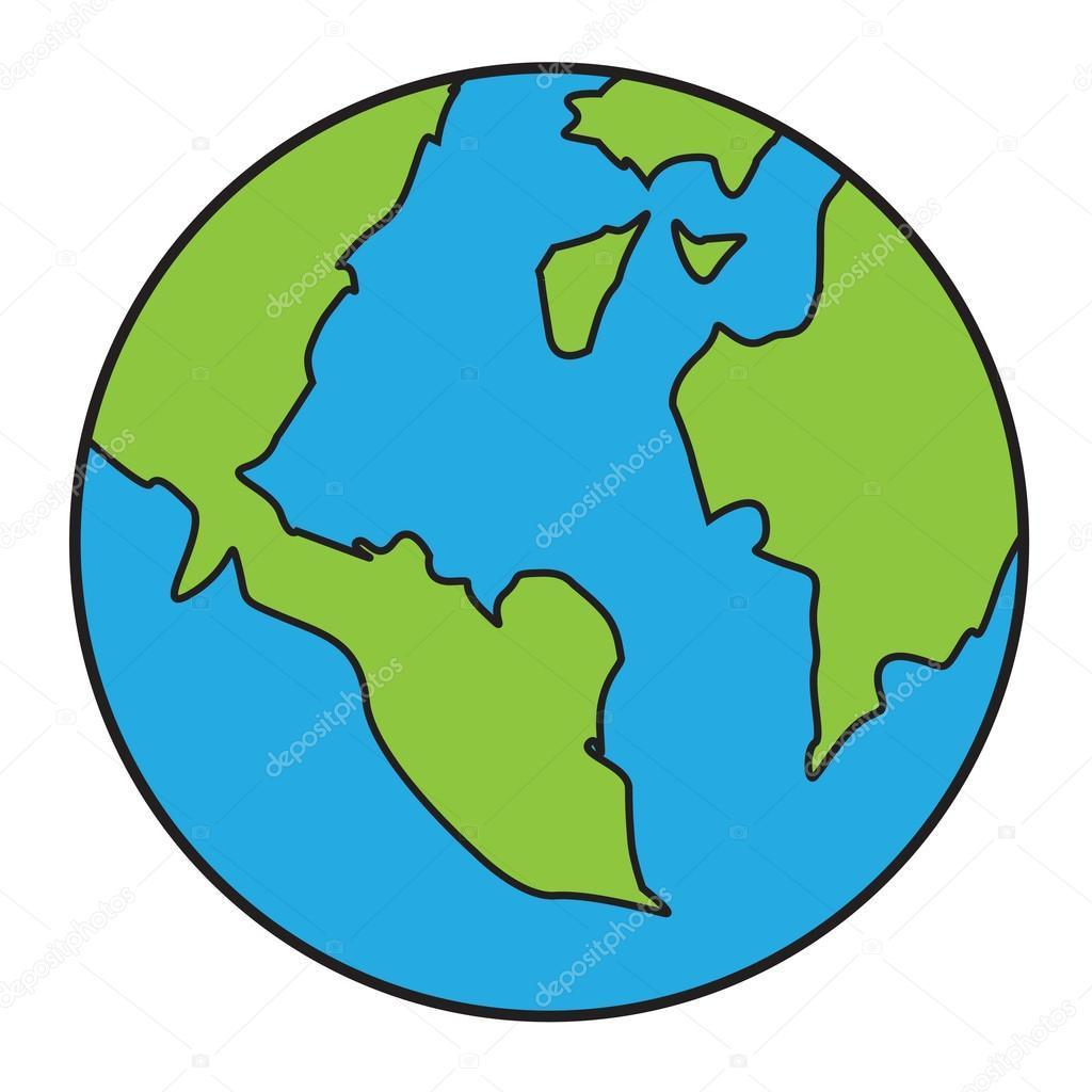 1024x1024 Best Earth Drawing Vector Library Free Vector Art, Images