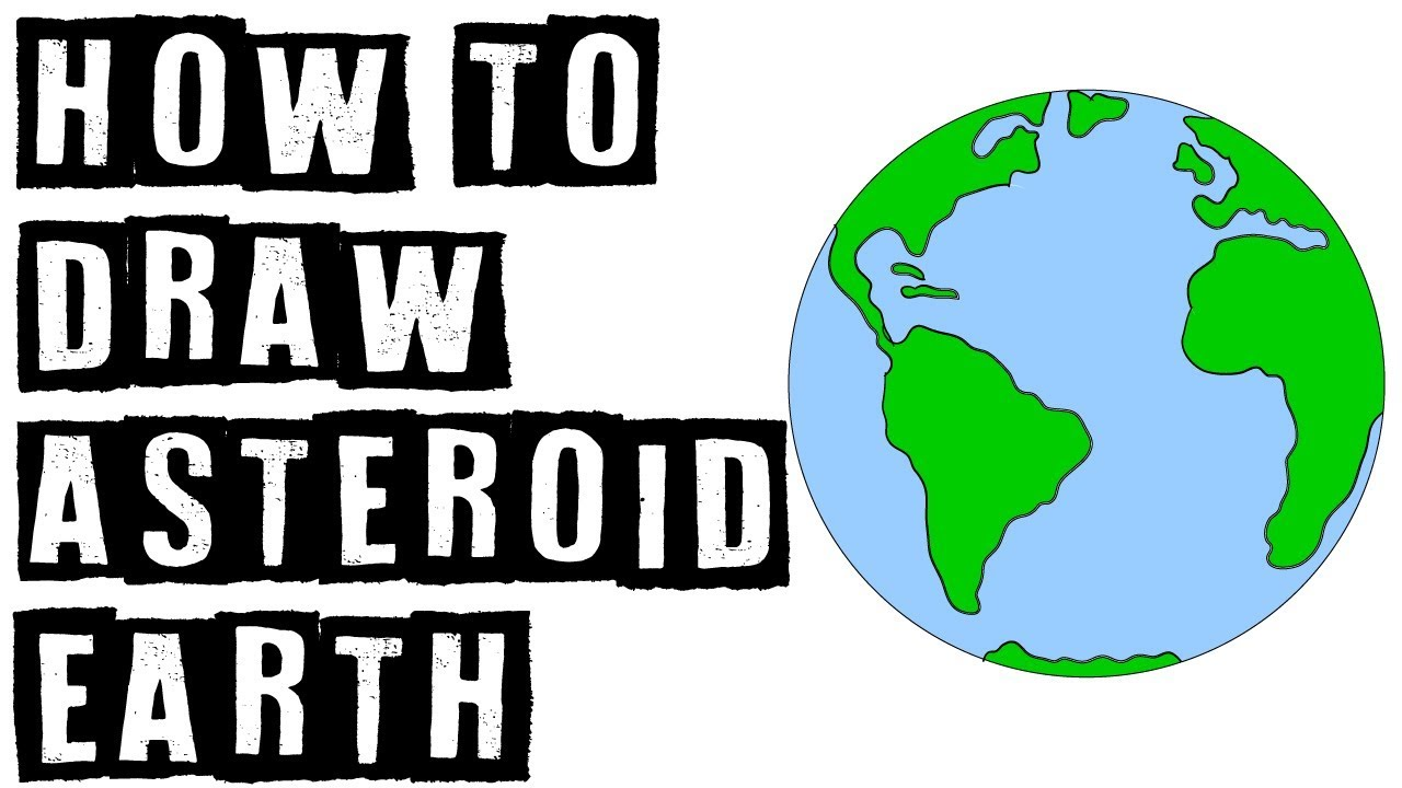 1280x720 How To Draw A Cute Cartoon Asteroid Earth Speed Drawing Expert