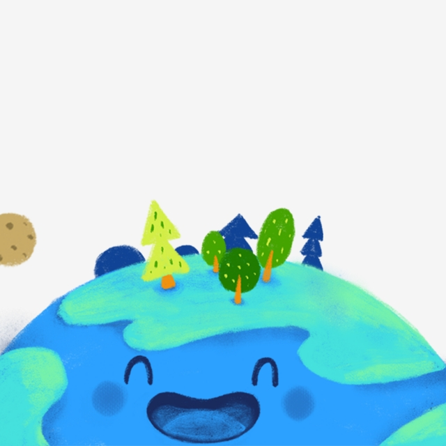 640x640 Cartoon Drawing Of A Happy Laughing Earth Happy Laughing Earth