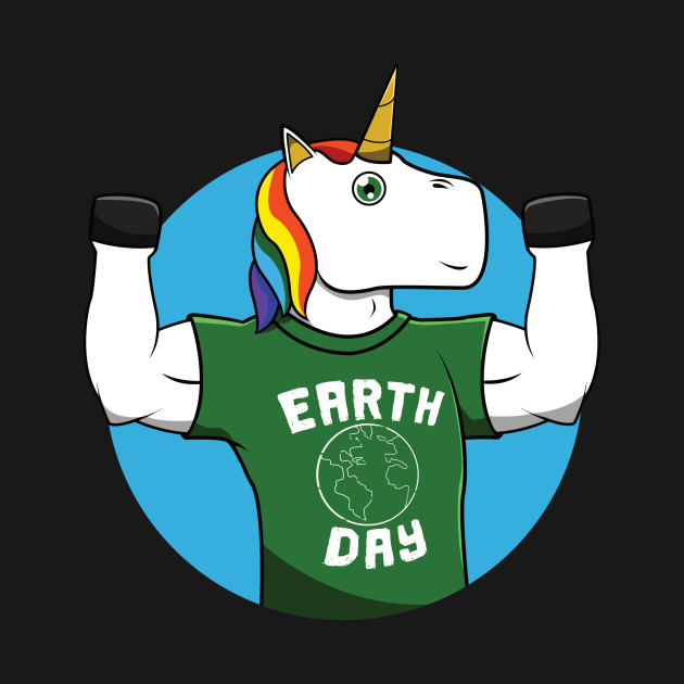 630x630 Earth Day Funny Unicorn Environment Drawing