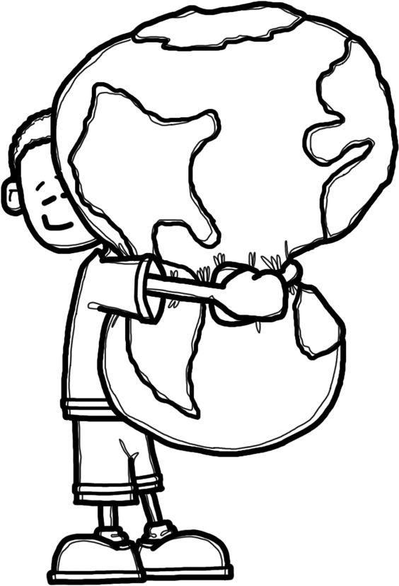 564x829 Earth Day Clipart Black And White